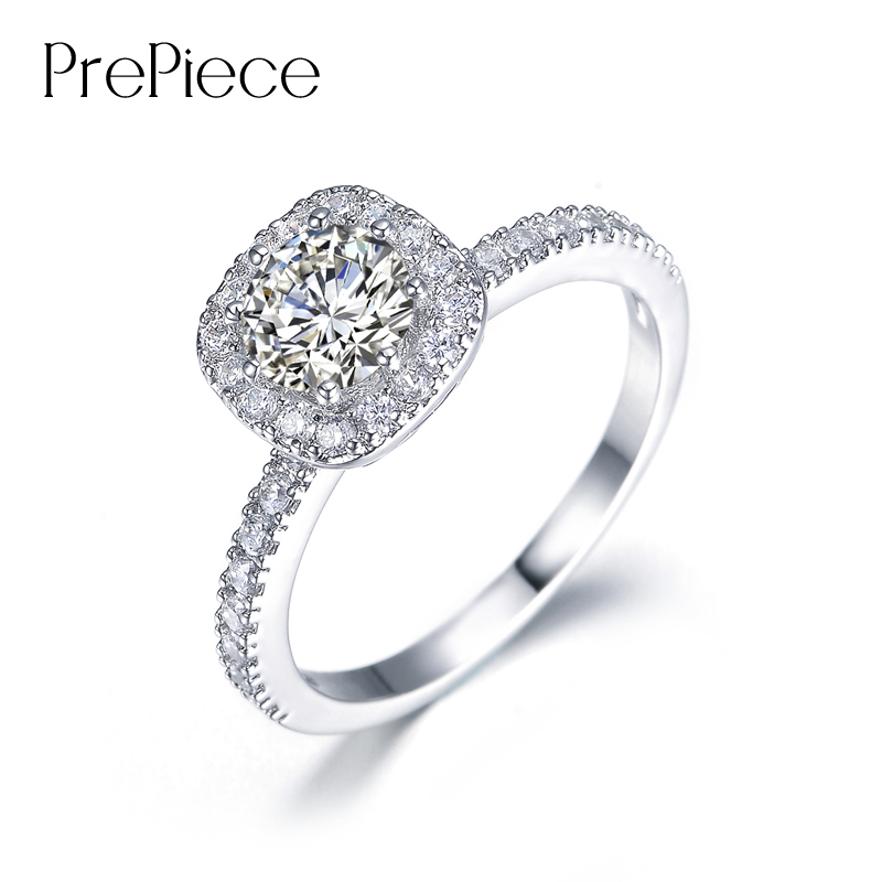 prepiece brand superbe bague femme quality expensive wedding rings for women white gold color cz rings - Expensive Wedding Ring