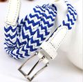 100CM*1.2 Women Fashion Elastic Canvas Belts Candy Color Pu Leather Casual lady Waistband women accessories