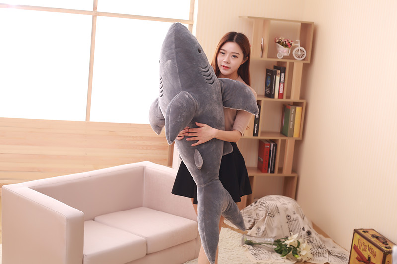stuffed toy large 140cm grey shark plush toy doll throw pillow birthday gift b0575 large 75cm gray shark plush toy soft throw pillow birthday gift xmas gift d2398