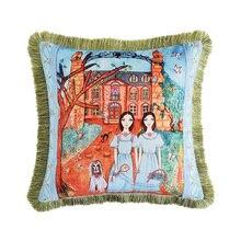 European luxury super soft thick double-sided digital cat flower print hug pillowcase  Home Decorative Sofa Throw Pillows