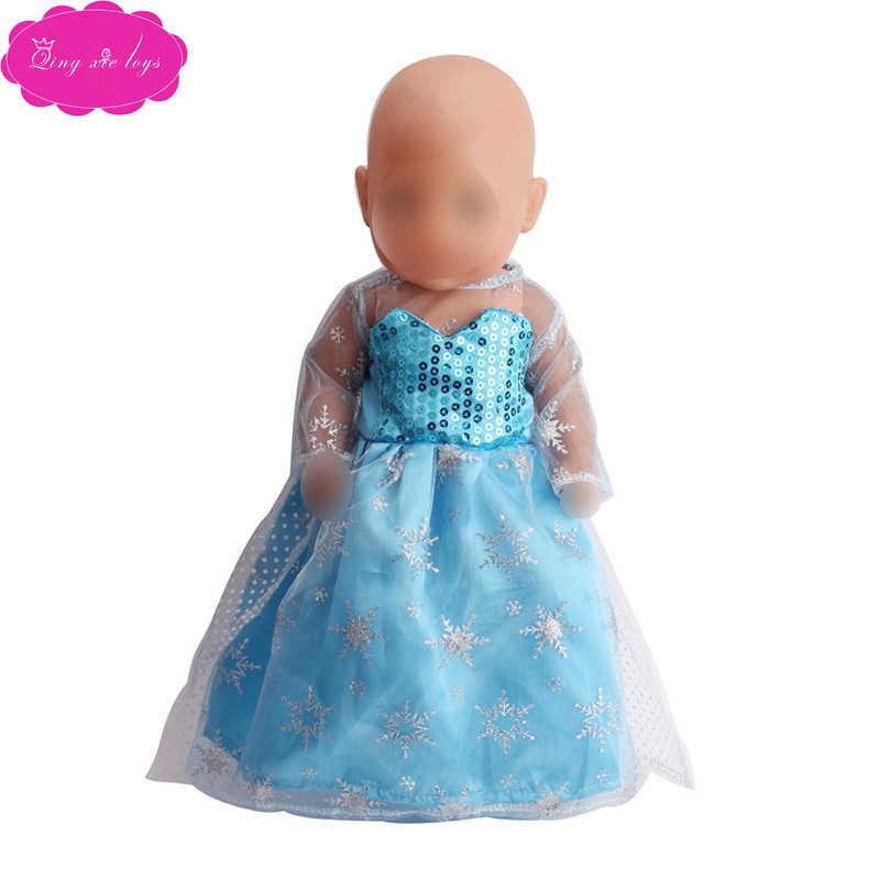 Кукольной одежды для ролевых игр наряд Анны «Холодное сердце» Aisha/Белоснежное платье принцессы подходит к кукле 43 см и 18 сапоги с меховой отделкой для девочек Аксессуары f41