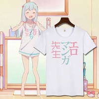 New Romanga Sensei Sagiri Izumi Cosplay T Shirt Fashion Anime Men T Shirt Cotton Short Sleeve