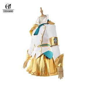 Image 2 - ROLECOS Disfraz de Battle Academia Lux para mujer, LoL Lux, Cosplay, Lux Prestige Edition, traje de mujer, falda de Halloween