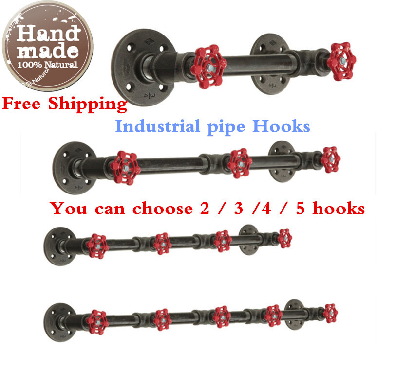 Americn Industrial Clothes Rack Retro Style Pipe Wall Hooks for Hanging Clothing Store Shelf Coat Rack Hat Rack-Z41