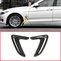 탄소 섬유 스타일 ABS 측면 공기 환기 펜더 후드 커버 BMW 3 시리즈 GT F34 2013-2018 자동차 액세서리 2pcs