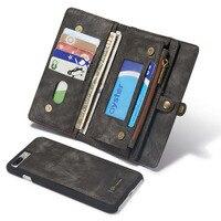Hakiki Deri İş Kadın Erkek Çanta Cüzdan Flip Case iphone 6 için 6 s 7 8 Artı Kart Tutucu Telefon Kılıfı iphone X 10