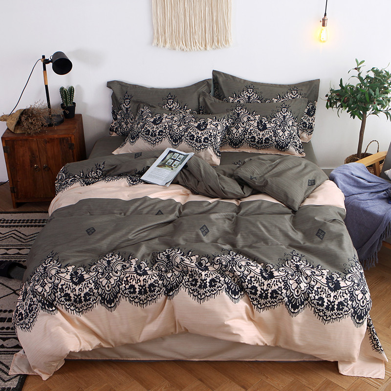 Image 3 - Four Piece Quilt Cover, Exotic Full Size Pillowcase warm wonderful prints with dreaming stars Gently Cycle Only mattress bed pad-in Bedding Sets from Home & Garden