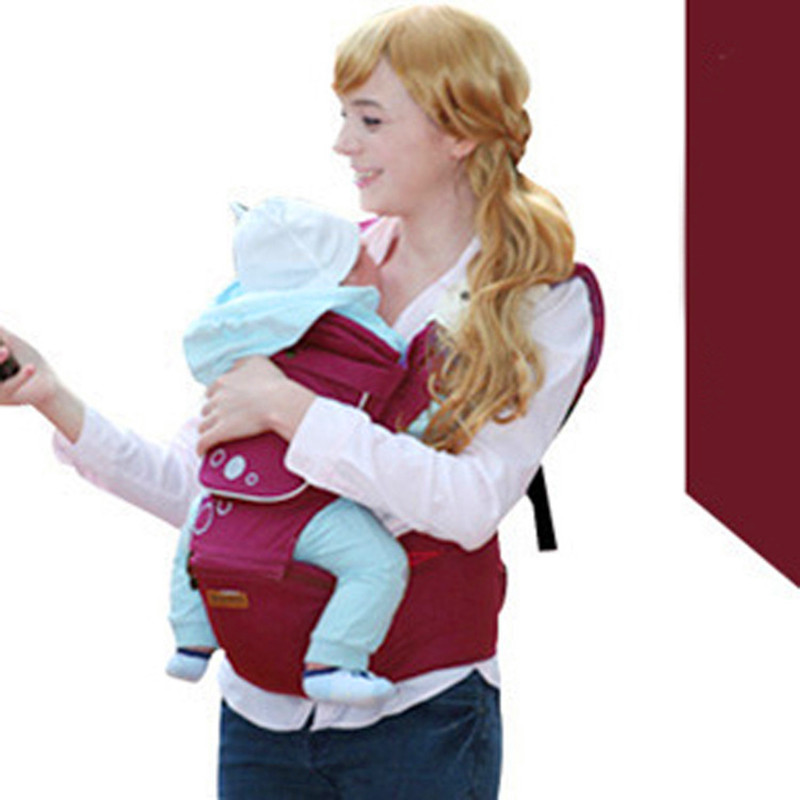 ФОТО 2016 Multifunction Outdoor Kangaroo Baby Carrier Sling Backpack New Born Baby Carriage Hipseat Sling Wrap Summer and Winter