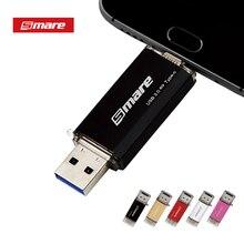 Smare type-C OTG флеш-накопитель USB 3,0 64 ГБ 32 ГБ 16 ГБ флеш-накопитель смартфон память Мини USB карта type-C 3,1 двойной разъем