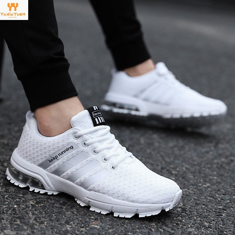 2018 Rushed Feminino Esportivo New Couple Air Cushion Shoes Sports Running Men's Flying Weaving Casual Breathable