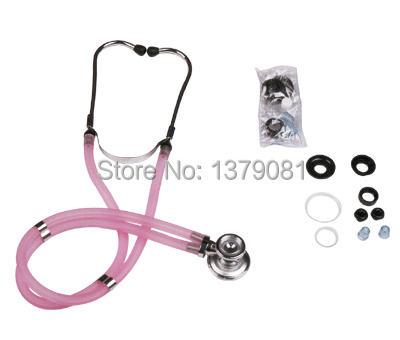 ФОТО High quality medical auscultator multifunctional double tube stethoscope hear fetal heart  with accessories bag