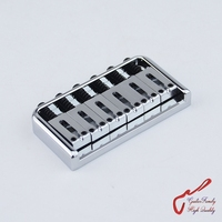1 Set GuitarFamily Super Quantity Electric Guitar Fixed Bridge Stainless Saddle / Steel Plate Chrome MADE IN KOREA