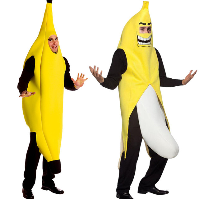 06d892179 Men Cosplay Adult Festival Costume Clothing Funny Sexy Banana Costume  Novelty Halloween Christmas Carnival Party Dress Up
