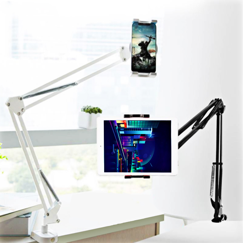 360 degree Flexible Arm Table Pad Holder For Samsung Ipad Air Mini Xiaomi Universal Lazy Bed Desk Mount For 4-12.9 Inch Tablet universal tablet stand holder for ipad 2 3 4 air mini for samsung lenovo lazy bed desk mount for 6 11 inch tablet pc