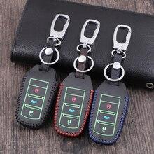 Светящийся кожаный чехол для ключей, чехол для Changan Eado CS35 Raeton CS15 V3 V5 V7, брелок для ключей, аксессуары для автомобиля