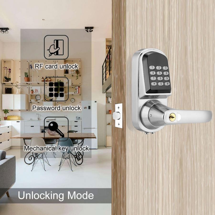 S202MF mot de passe numérique carte clé mécanique serrure de porte intelligente Anti-vol serrure de porte pour hôtel d'appartement
