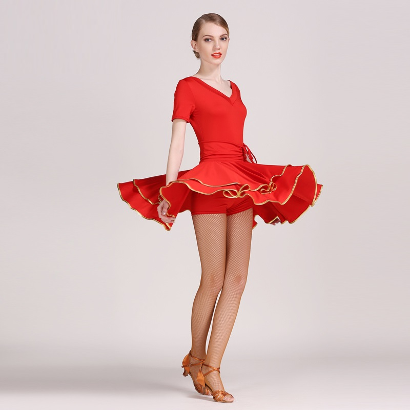 Picture of 3 Color Latin Dress Latin Dance Costumes For Women Salsa Dress Latina Dress For Dance Competition Latin Dance Tango Dress Fringe