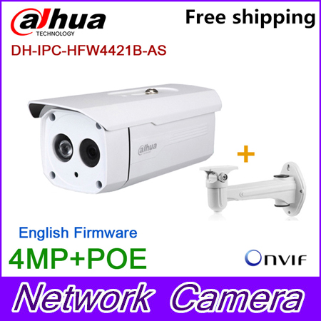 Wholesale Original Dahua 4MP bullet Camera IPC-HFW4421B-AS HD IP CCTV Network Audio monitoring Web POE DH-IPC-HFW4421B-AS original dahua 4mp ipc hdbw4421r as ip network camera support poe