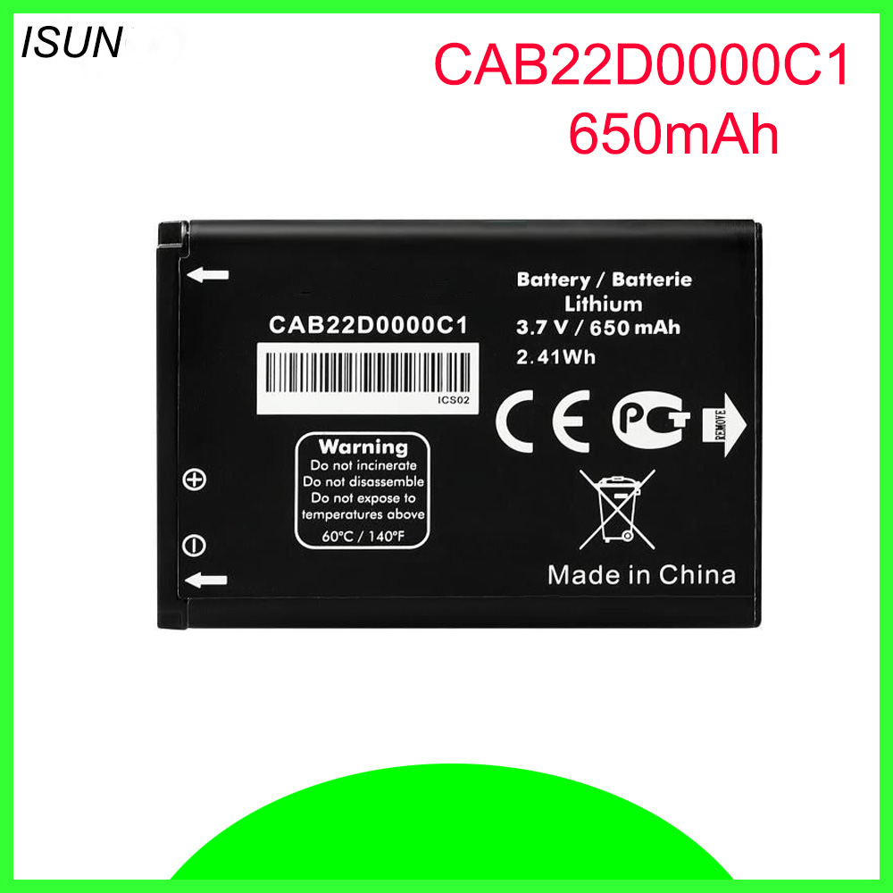 ISUNOO CAB22B0000C1 CAB22D0000C1 CAB3010010C1 <font><b>Battery</b></font> <font><b>For</b></font> <font><b>ALCATEL</b></font> One Touch 2012D 2010D 2010X 2012D 356 665 OT-2010 OT-356