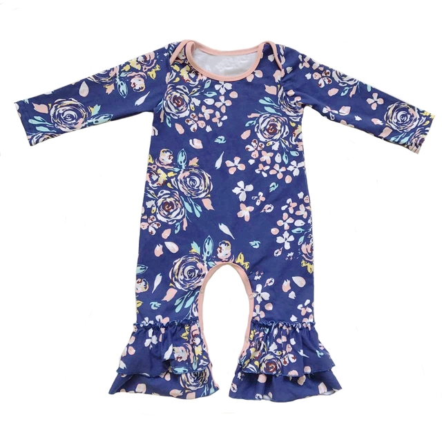 bad48d66cb51 Cotton Infant Gown Baby Sleep Sack Organic Baby Clothes Infant Sleeper Girl  Baby Shower Gift floral ruffle newborn romper