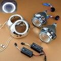 Автомобиль Стайлинг 3.0 ''Full Metal HID Би-ксеноновые Линзы Лампы Проектора ксеноновые Фары Комплект С/Без Angel Eyes H1 H4 H7 9005 9006