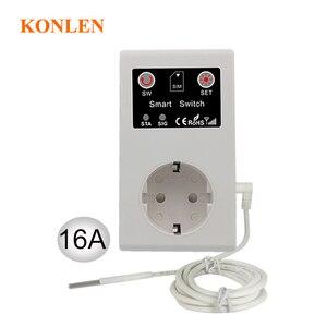 Image 2 - 16A GSM Presa di Controllo Remoto Interruttore di Alimentazione del Sensore di Temperatura Smart Home, Casa Intelligente Relè di Controllo SMS App Porta Del Garage Apri del Cancello