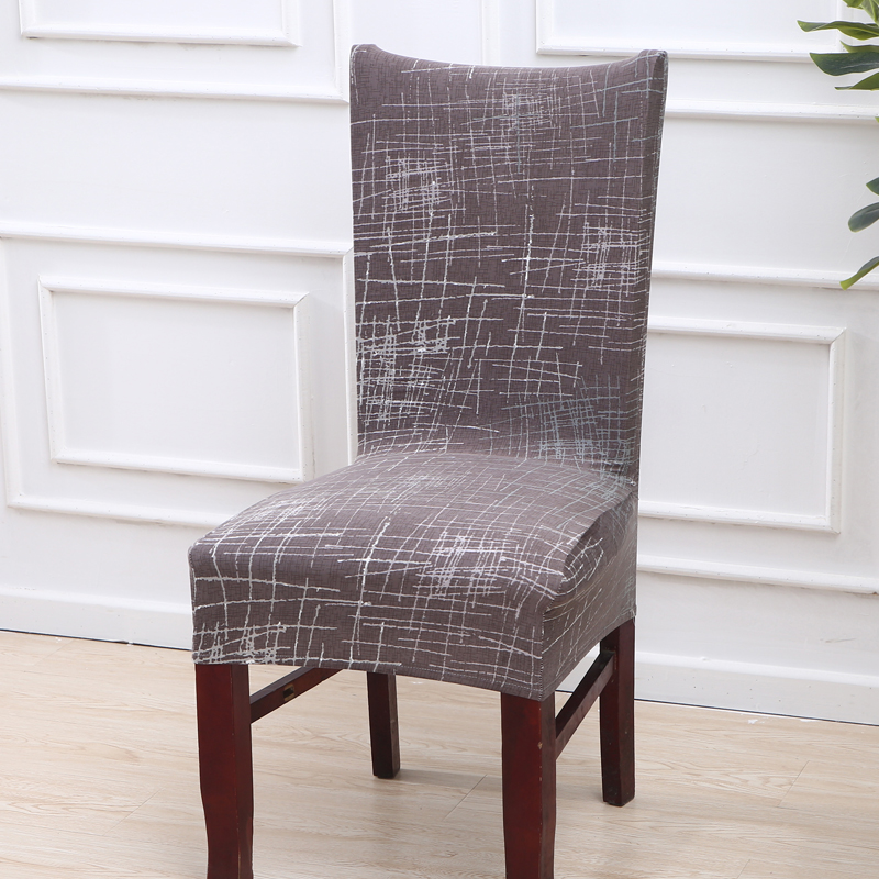 Striped Dark Gray Office Chair Covers