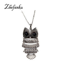 Fashion Accessories Jewelry New Owl Pendant Long Chain Necklace Gift For Women Girl Wholesale The European