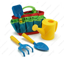 цены 5Pcs Garden Tool Set Mini Planting Gift Rake Spade Portable Early Learning Outdoor For Kids Shovel Watering Can DIY Toys