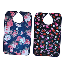 2pcs Reusable Waterproof Eating Bib Adult Mealtime Clothing Protector Disability Dining Patient Aid Aprons