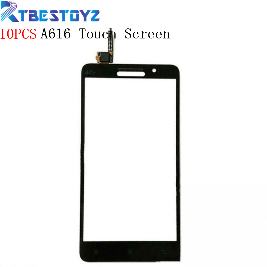 RTBESTOYZ 10PCS Sensor Replacement Parts For <font><b>Lenovo</b></font> <font><b>A616</b></font> Outer Touch Screen Digitizer Panel With Tracking Number image