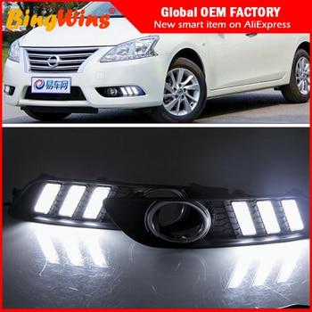 Автомобильный сигнал поворота и светодиодный DRL дневные ходовые огни для  Nissan Sentra Sylphy 2012 2013 2014 2015 водонепроницаемые ABS DRL