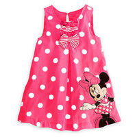 Baby Girls Dress Baby Girl Baptism Dress Girl Clothes 2017 Summer Style Cartoon Mouse Bow Kids