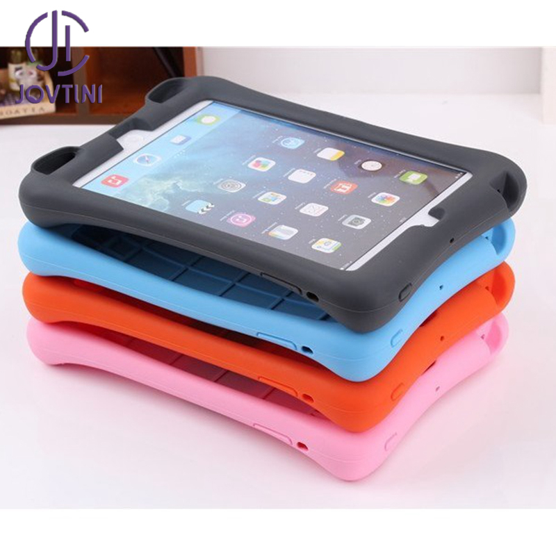 JOVTINI New Arrival Case For Apple iPad mini 1/2/3 Soft Silicon Rubber Kids Shockproof Tablet Stand Cover For iPad mini123 case стоимость
