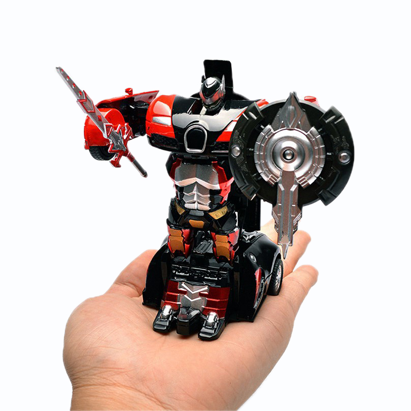 One Key Deformation Car Robot Toy Pull Back and Go Transformation Robot 2 In 1 Sports Car Model Vehicle Boys Toys Christmas Gift