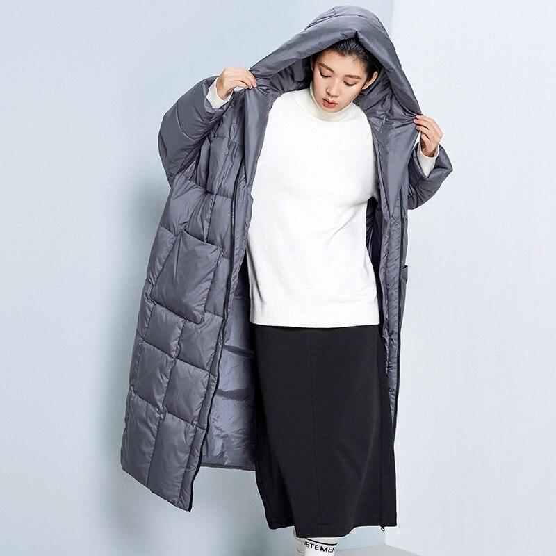 LYNETTE S CHINOISERIE Winter Original Design font b Women b font Ultra Loose Ultra Long Hooded