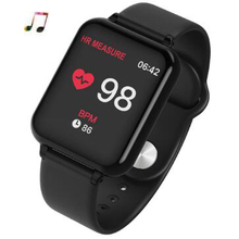 B57 Women watch heart rate blood pressure smart men bracelet fitness tracker Mp3 wristband sport reloj