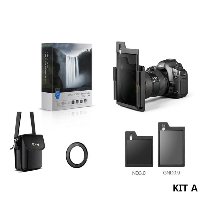 B. way nouveau KIT de filtre carré de caméra de conception brevetée A y compris le support de S-ONE/CPL/GND 0.9 SOFT/ND 3.0 (1000)