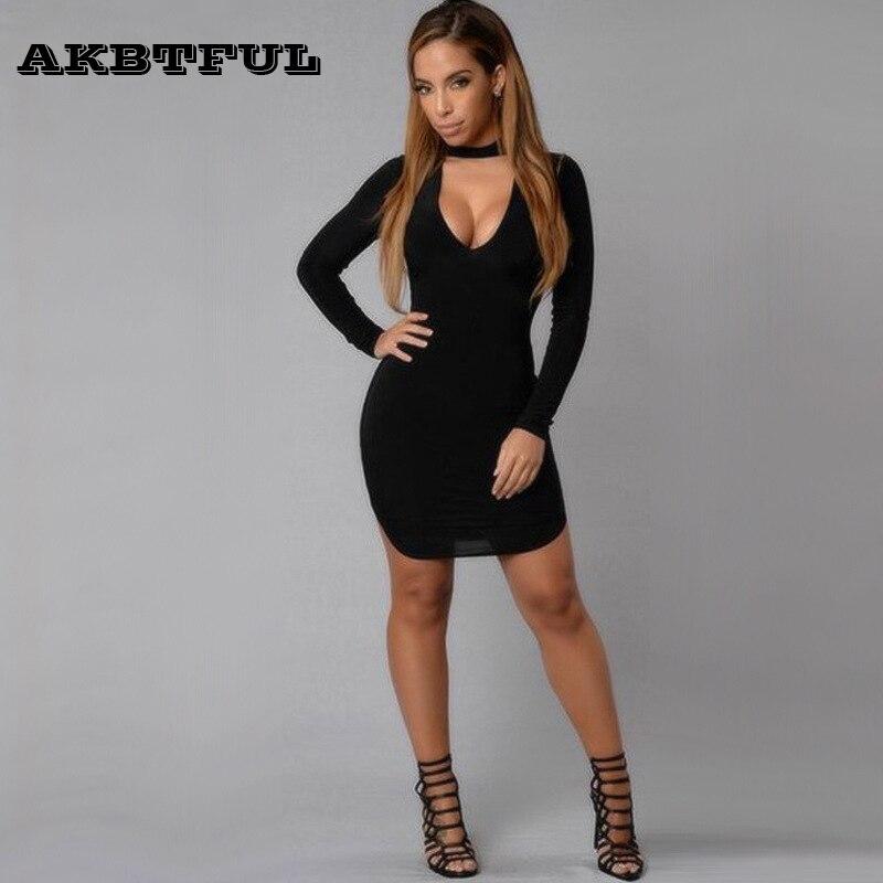 Black Girl Clothing: Sexy Long Sleeve Solid Mini Dress Women Plus Size Summer