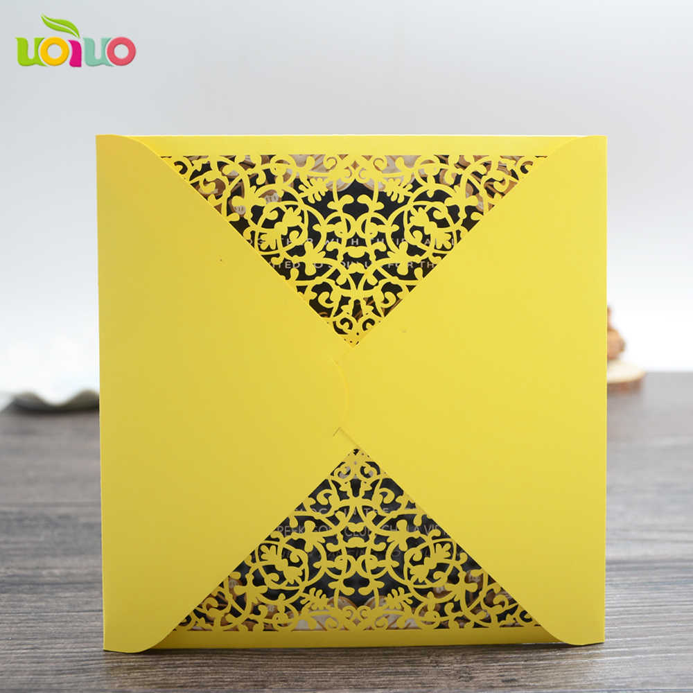 10pcs Vintage Yellow Paper Wedding Invitation Card Envelop Sample Flower Lace Personalize Indian Wedding Invitations Cheap Wedding Invitation Card Envelope Invitation Cardcard Vintage Aliexpress