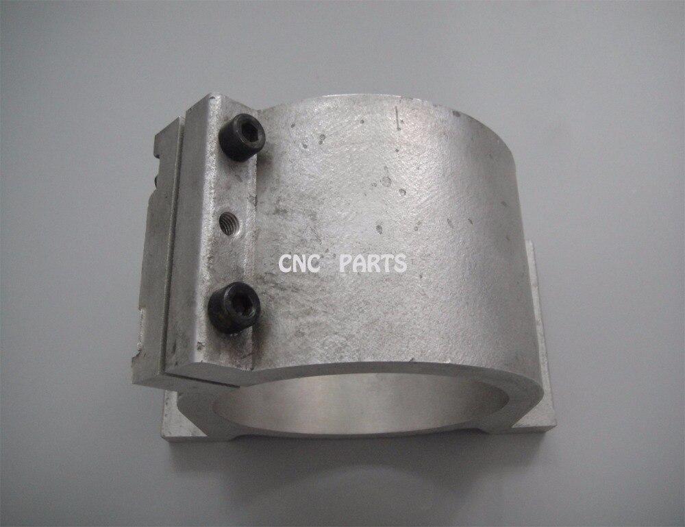 100mm Spindle Motor Bracket Seat Cnc Carving Machine Clamp Motor Holder Cast Aluminum Sandblasting Surface