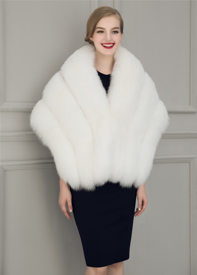 2018 Hcyo   Korean version of the imitation of rabbit fur shawl imitation water mane fur grass cloak vest women's coat (6)