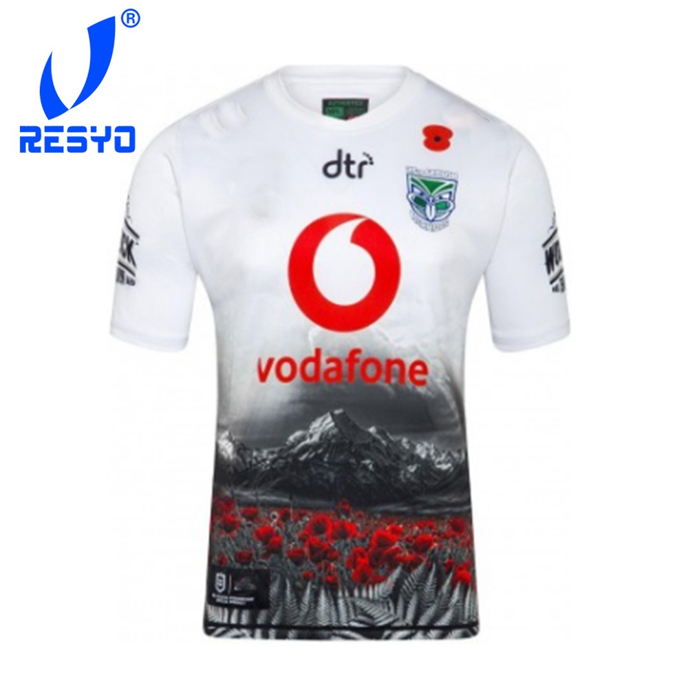 RESYO For Warriors 2019 Men's Replica Commemorative Jersey Rugby Sport Shirt Size:S-3XL Free Shipping