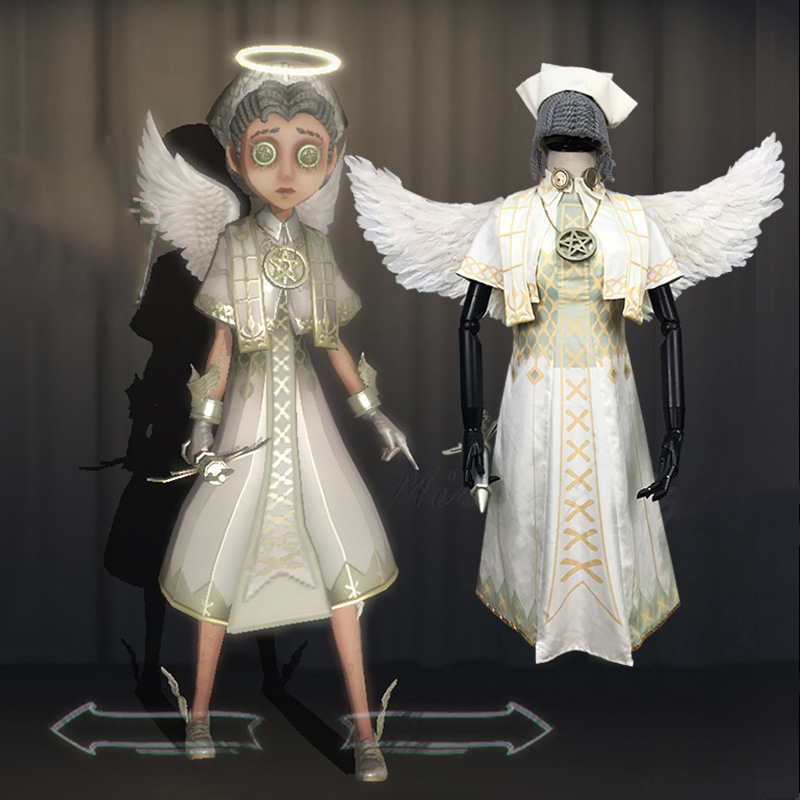 Identity V White Angel Wings Headwear Fairy Costume Unisex Cosplay Prop Party