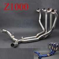 Z1000 Motorcycle Exhaust Muffler Pipe Blue Color Tube Full System FOR Kawasaki Z1000 2010 2011 2012 2013 2014 2015 2016 AK191
