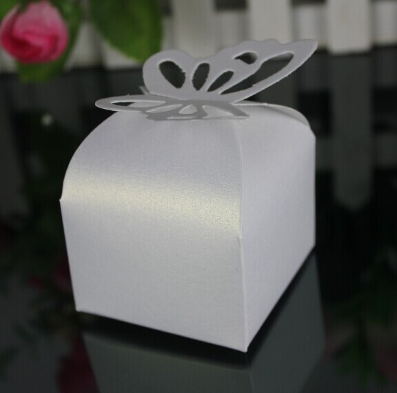 Piggy bank box for wedding white violet with BUTTERFLIES