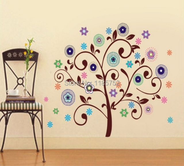 New Cartoon Tree Wall Stickers For Kids Room Wall Decals Vinyl - Vinyl wall decals home party