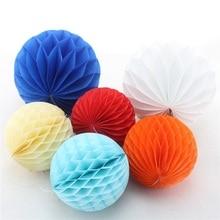 20pcs 8(20cm) Tissue Paper Honeycomb Balls Birthday Party Wedding Decoration Hanging Colorful Decorative