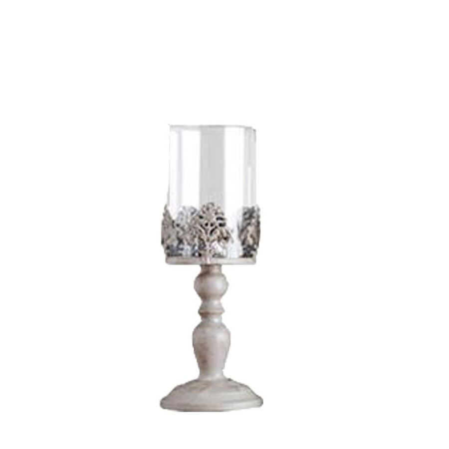Bougeoir en métal européen ornements de maison en fer de luxe sculpté Bougeoir Vintage centres de Table de mariage 50ch020