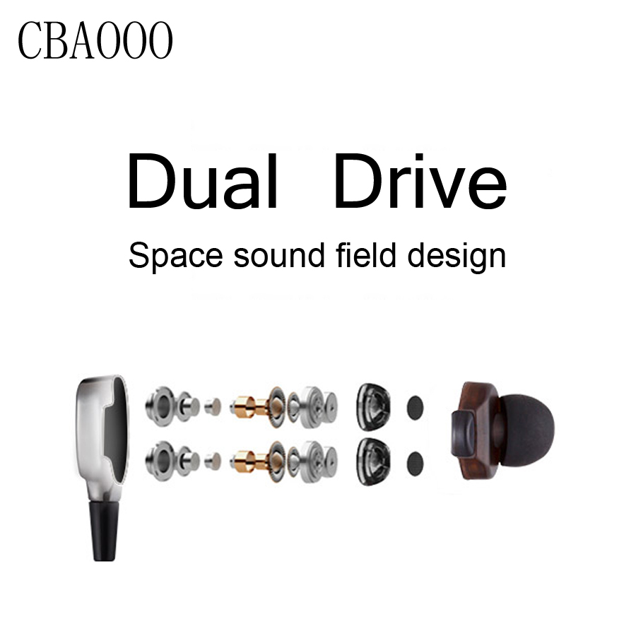 CBAOOO Dual Driver Earphone and Wired In-Ear Bass Stereo Earbuds Headset with Mic Headphone HiFi Noise Cancelling Earphones plextone g20 wired magnetic gaming headset in ear game earphone with mic stereo 2m bass earbuds computer earphone for pc phone